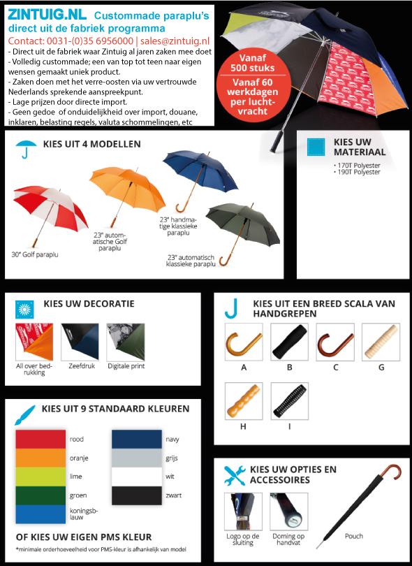 Custommade golfparaplu's
